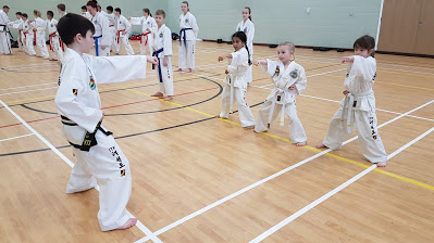 Children learning Taekwondo in Berkshire