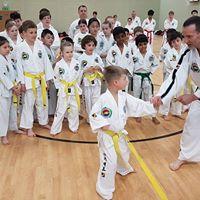 Children learning Taekwondo in Reading