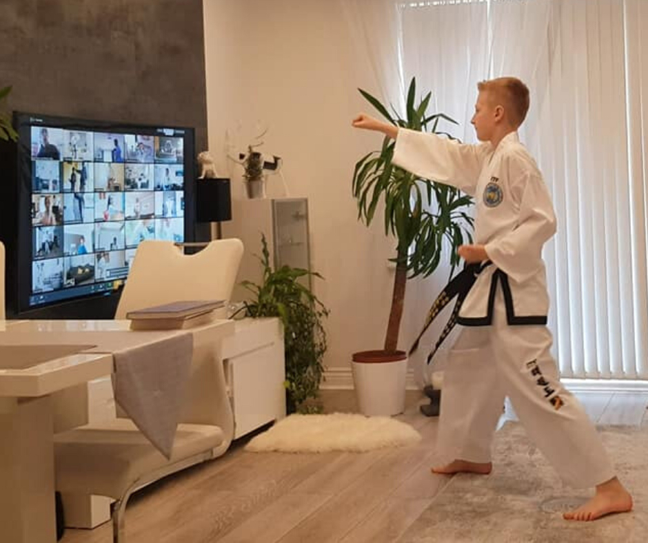 Taekwondo online training at home