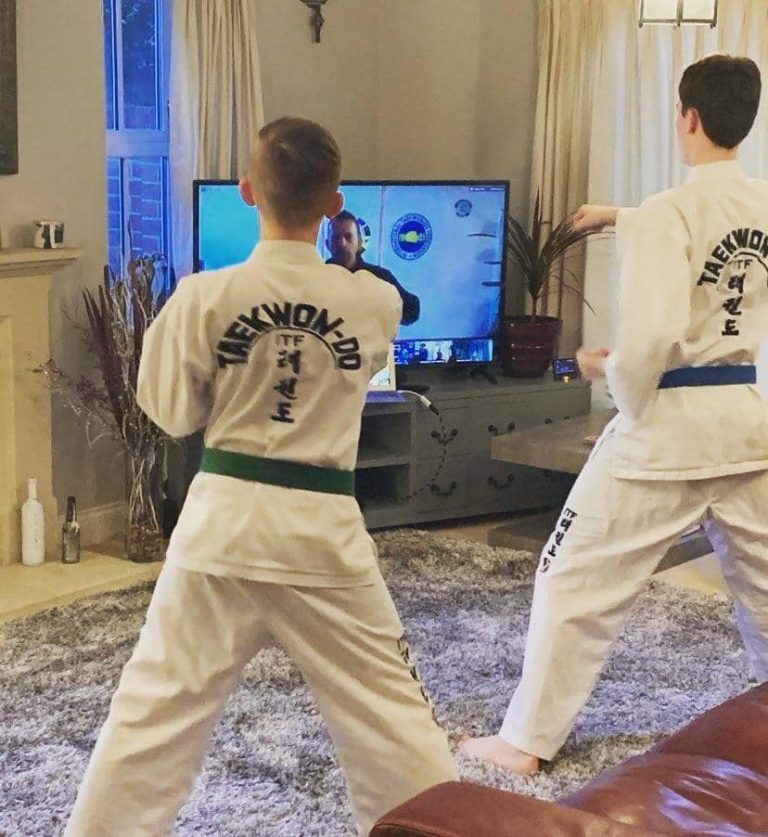 Taekwondo online training in the comfort of your home